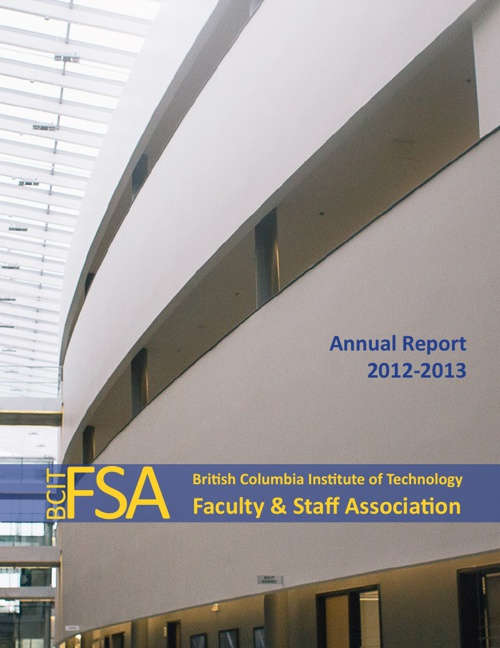 2012-13 BCIT Faculty & Staff Association Annual Report