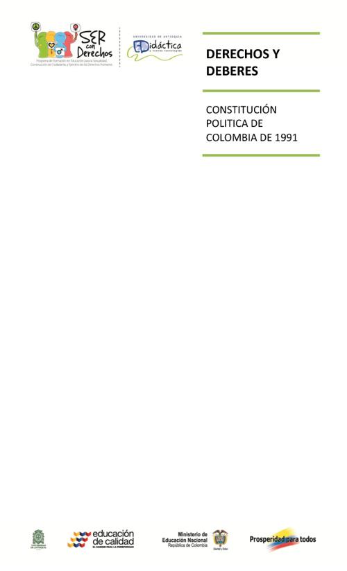 Derechos y Deberes Constitución Política