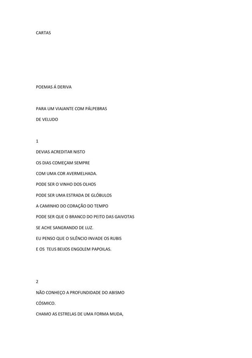 Copy of Copy of Copy of CARTAS by JOÃO PAULO CALADO