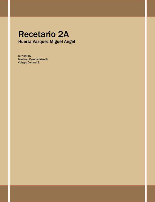 Recetario 2A