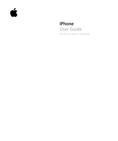 iPhone User Guide For iOS 4.2 and 4.3