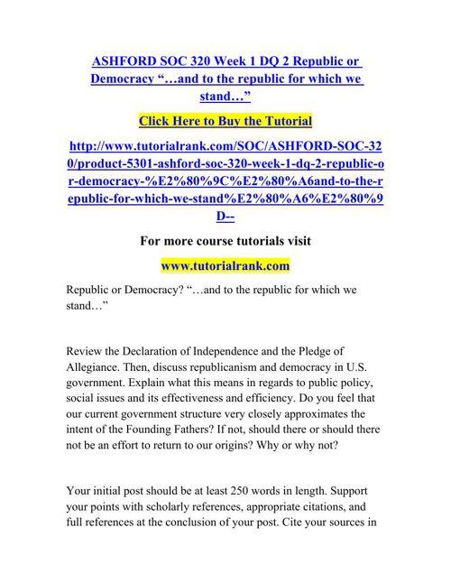 SOC 320 Learning Consultant / tutorialrank.com