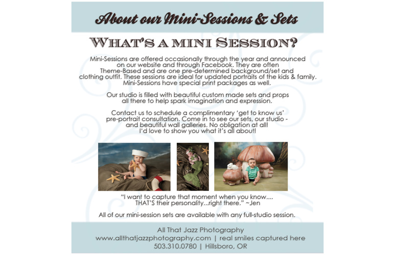 All That Jazz Photography | Mini Sessions Catalog