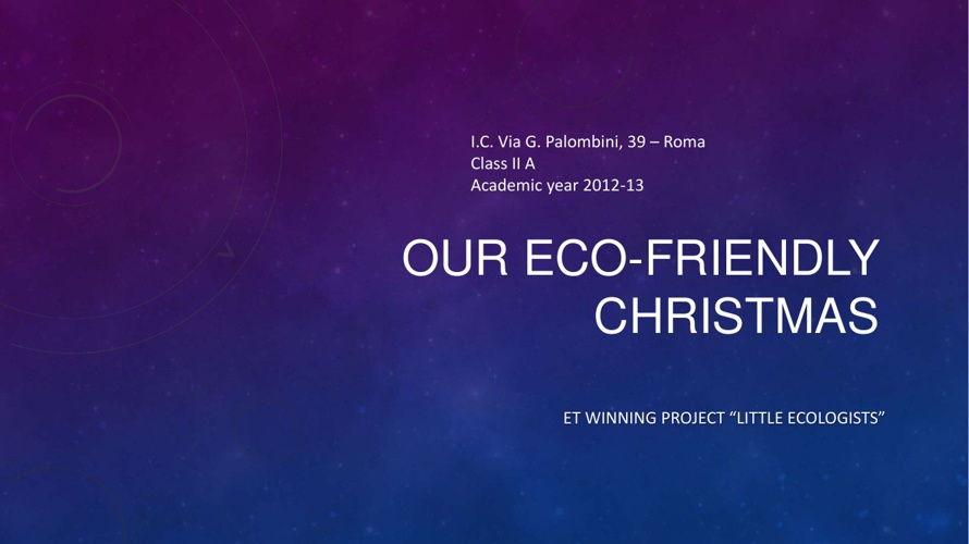 An eco-friendly Christmas tree