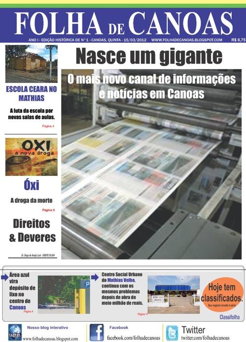 Leia aqui o Folha de Canoas