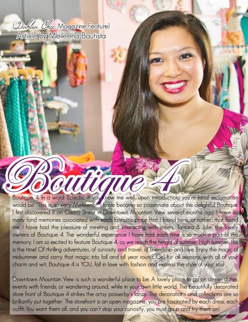 Boutique 4 Photospread Promotion