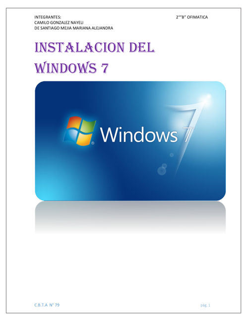 INSTALACION DEL WINDOWS 7