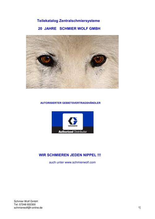 Schmierwolf Hauptkatalog 2013