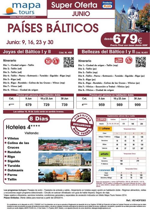 28-05-14 Oferta Joyas y Bellezas del Baltico -  Junio - desde 67