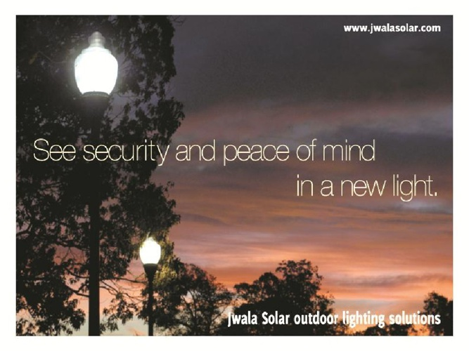 Jwala Solar Outdoor Lighting Brochure