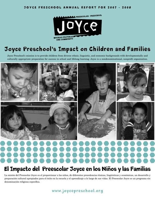 Joyce Preschool - 2007-08 Annual Report