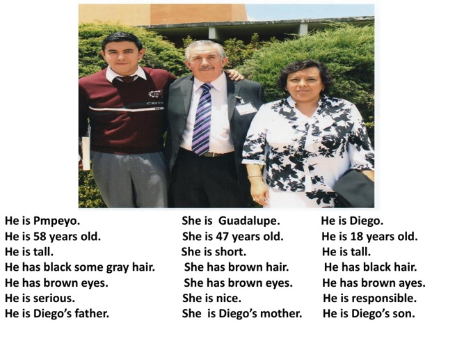 The  family of Diego.