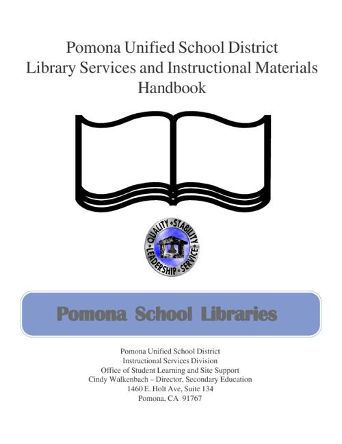 Pomona Unified Library Handbook