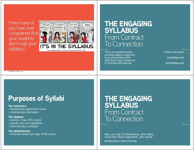 GLCTL Engaging Syllabus Presentation