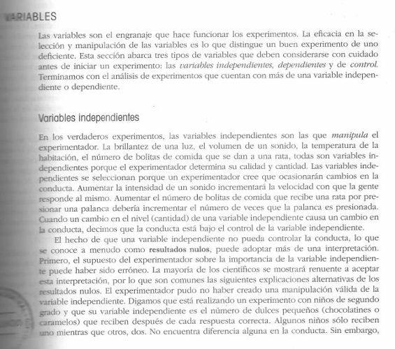 variables de experimentacion