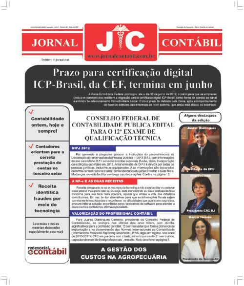 Jornal Contábil Edição Maio de 2012