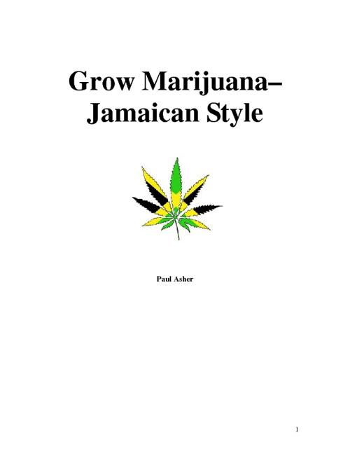 Grow Marijuana - Jamaican Style
