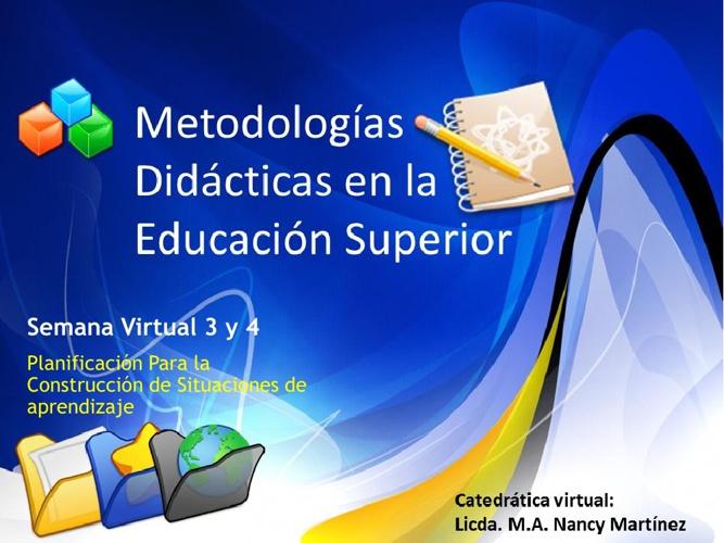 Planificación para la construcción de situaciones de aprendizaje