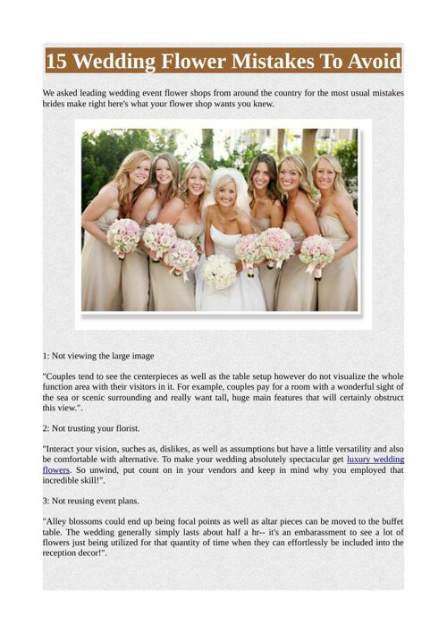15 Wedding Flower Mistakes To Avoid