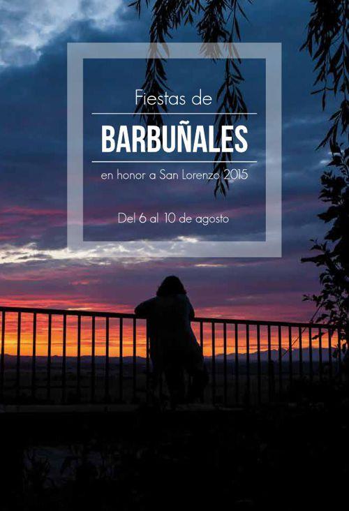 Programa Fiestas Barbuñales 2015.