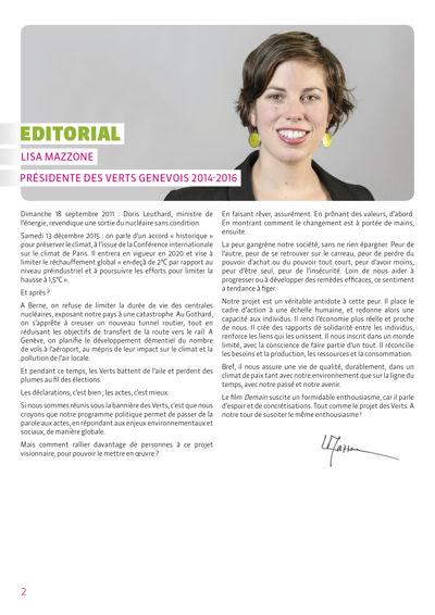 Brochure - Congrès des Verts Genevois - 2016