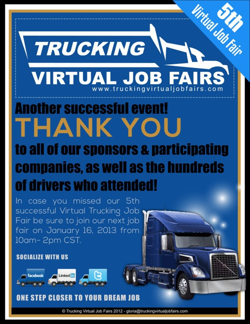 Trucking Virtual Job Fairs 12-12 Participants