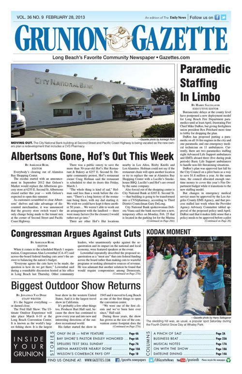 Grunion Gazette | February 28, 2013