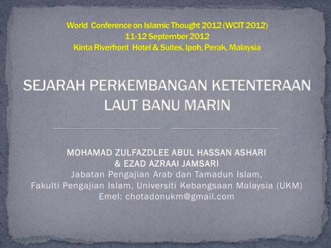 Sejarah Perkembangan Ketenteraan Laut Banu Marin