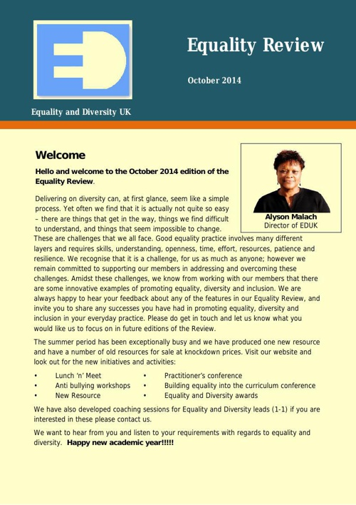 Equality Review October 2014