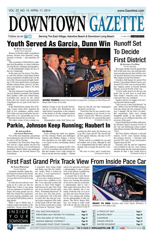 Downtown Gazette     April 11, 2014
