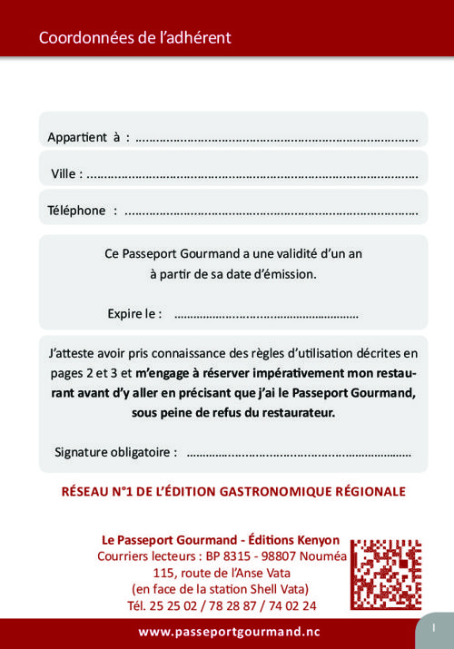 Passeport Gourmand 2016-2017