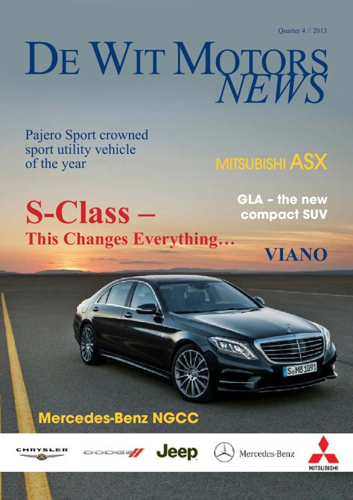 De Wit Motors News December 2013