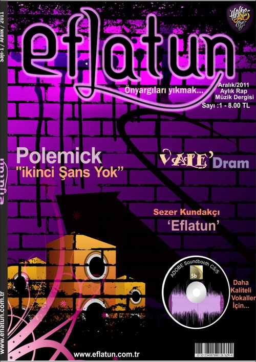 EFLATUN - (Rap Müzik Dergisi Tasarımı)