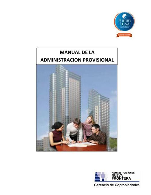 MANUAL DE ADMINISTRACION PROVISIONAL PL V1
