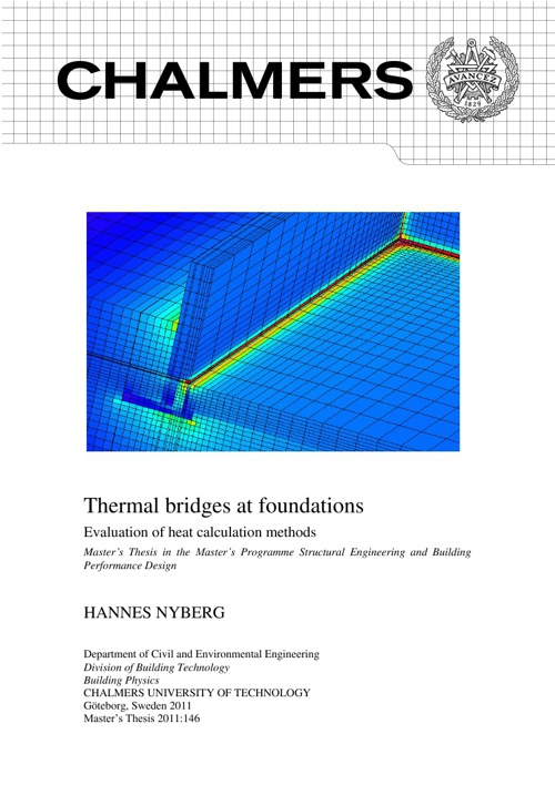 Thermal bridges at foundations - Thesis