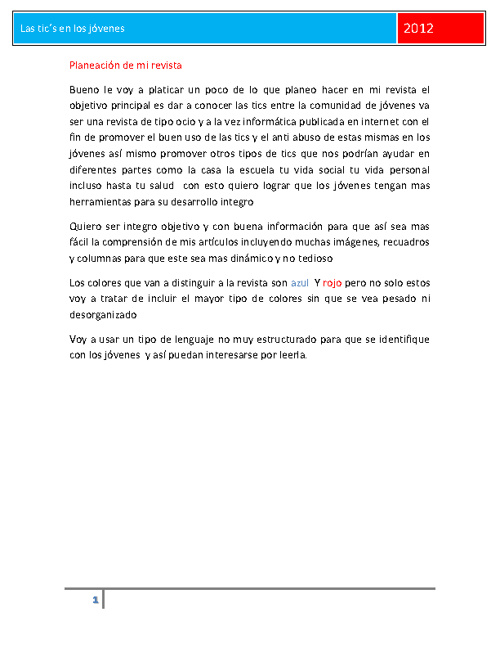 """revista tics completa """"TICS en los jovenes"""""""