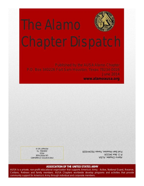 The Alamo Chapter Dispatch June 2014