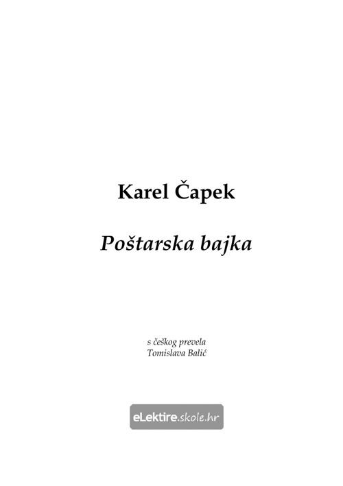 Karel Čapek Poštarska bajka