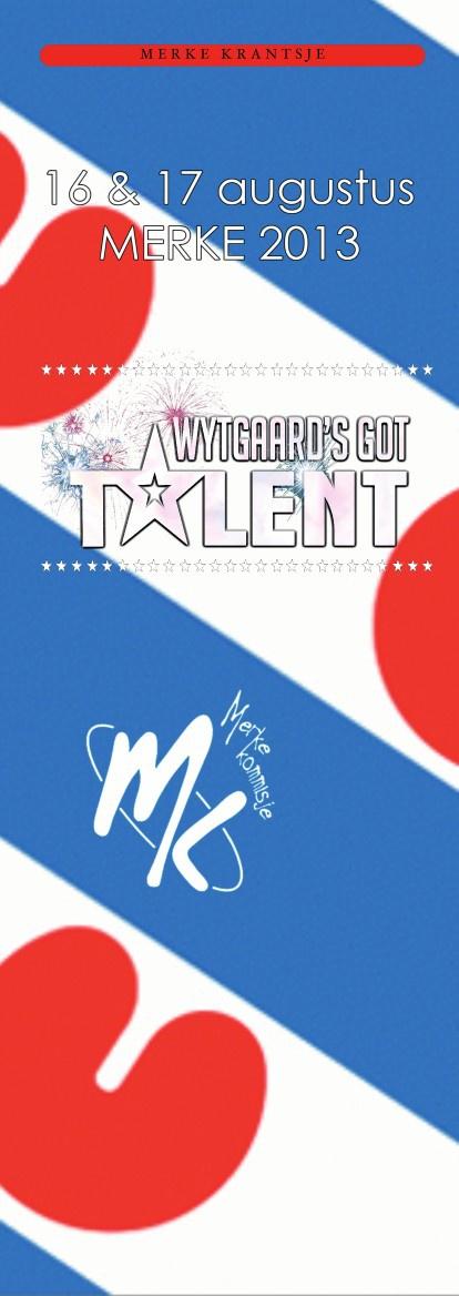 Merke 2013 Wytgaard's got Talent