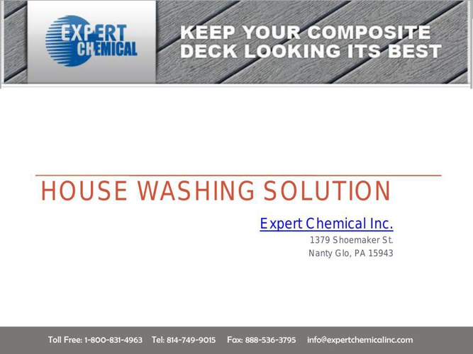 House Washing Solution