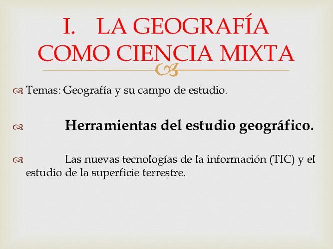 HERRAMIENTAS DEL ESTUDIO GEOGRÁFICO