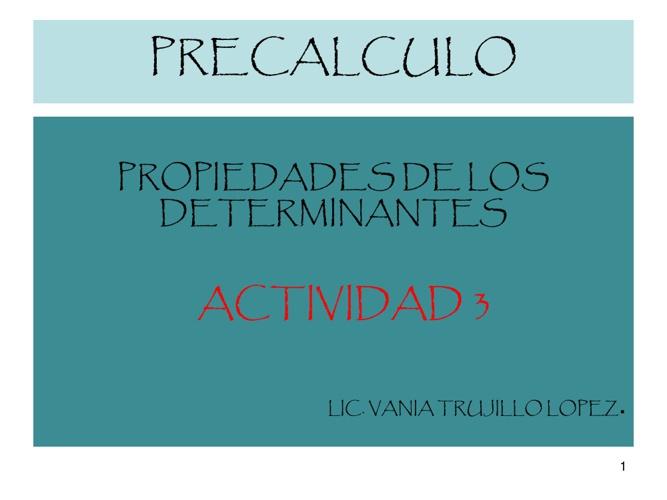 Precalculo actividad 3