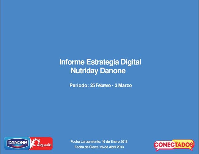 Informe Estrategia Digital Nutriday 25 Feb - 3 de Mar 2013