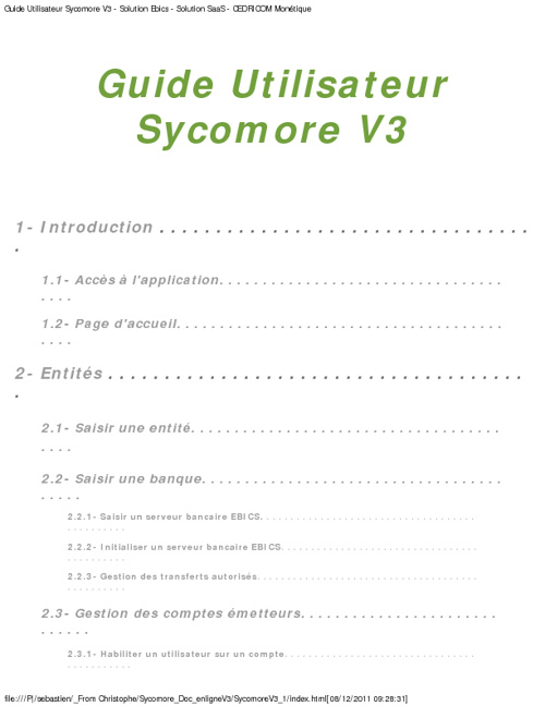Documentation Sycomore en ligne