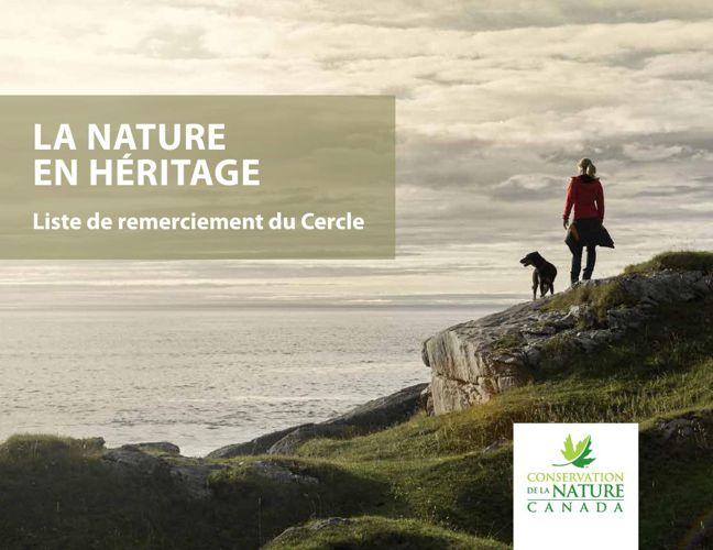 Liste de remerciement du cercle La nature en héritage