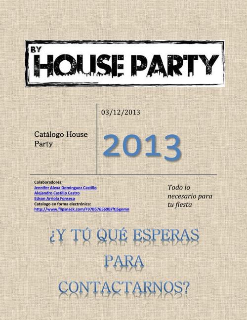 Catalogo House Party