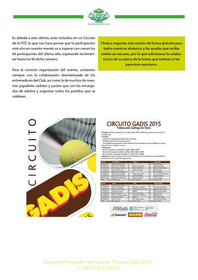 Presentación - Fiesta del Tenis Escolar 2015 - Cangas