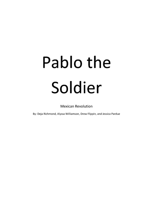 Pablo The Soldier (HWH2)