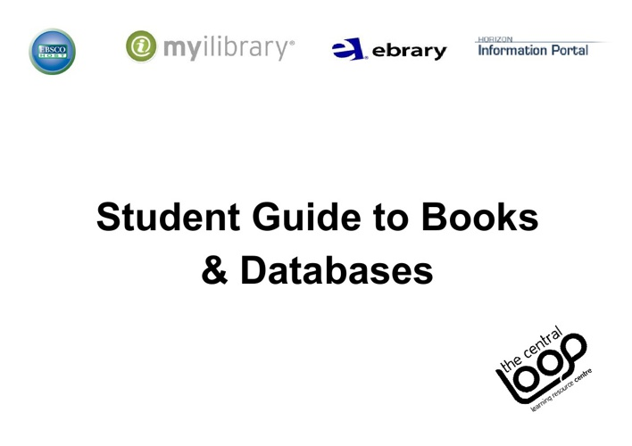 Student Guide to Books & Databases
