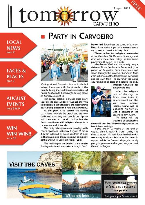 Tomorrow Carvoeiro, August 2012